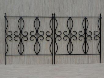Płotki ogrodowe metalowe